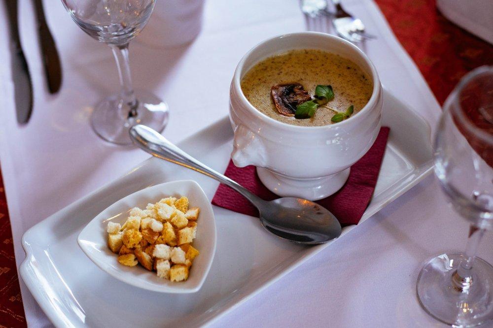 krémová polévka