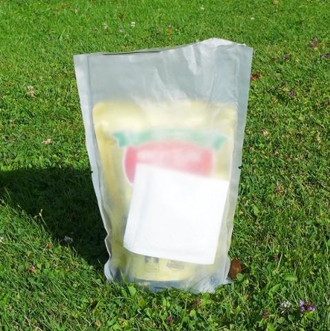 Samoohřívací sáček na jídlo